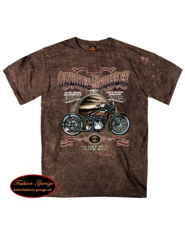 Bikes and Whiskey Sand Brown T-Shirt