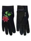 Gloves Rose and Rhinestones