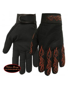 Mechanics Gloves Mens Red Flames