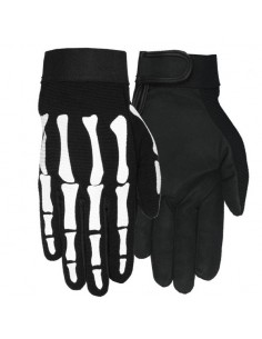 Mens Skeleton Mechanics Gloves