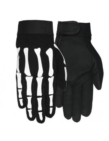 Mens Skeleton Mechanics Gloves