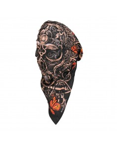 Lock and Key Skull Head Wrap