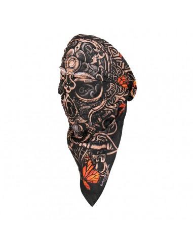 Lock and Key Skull Head Wrap