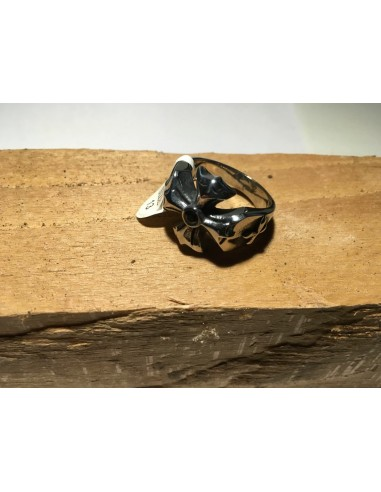 Biker Ring (Biker Cross Black Stone)