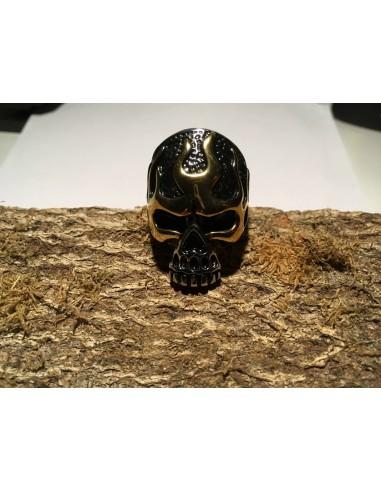 Biker Ring (Schädel mit Flammen)