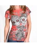 Sugar Couple Sublimation Ladies T-Shirt