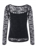 Skull Blouse with Top schwarz