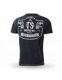 T-Shirt Vallhalla Riders Schwarz