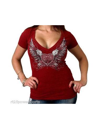 Sparkle Wings Burnout V-Neck