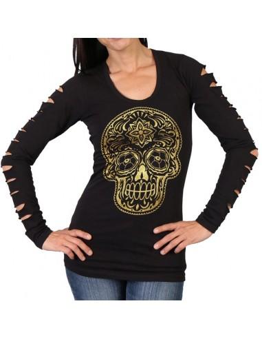 Slit Sleeve Poco Loco Shirt