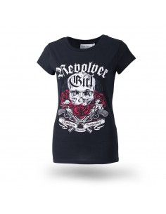 "Damen T-Shirt schwarz ""Revolver Girl"""