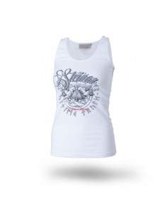 "Damen Mucki-Shirt weiss ""Invasion"""