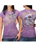 Banner Skull Classic Cut Ladies T-Shirt
