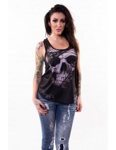 "Damen T-Shirt ""Black Lace Rip Skull"""